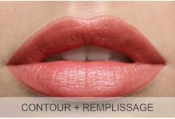 Maquillage permanent lèvres (contour + remplissage) -  Retouche incluse